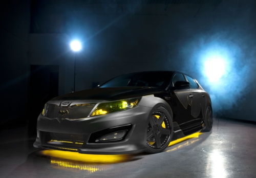 Batman Comic Books Inspire Tricked Out Kia Optima, Making World Debut at NY Time Warner Center