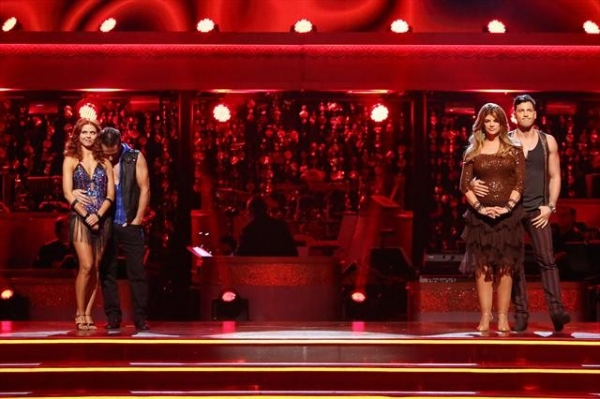 ANNA TREBUNSKAYA, DREW LACHEY, KIRSTIE ALLEY, MAKSIM CHMERKOVSKIY    at A Look Back at Last Night's Elimination on DANCING WITH THE STASR