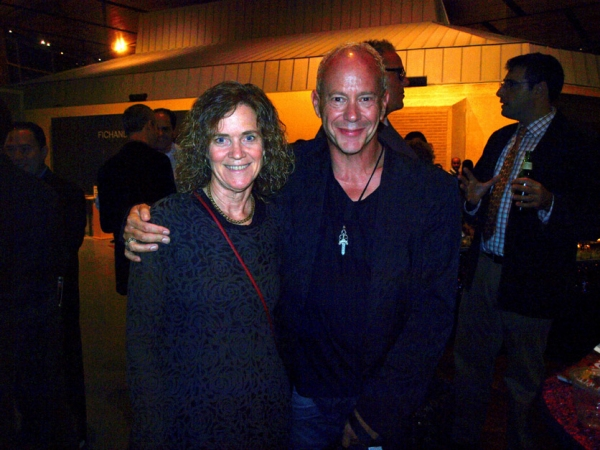 Laura Joplin and playwright-director Randy Johnson at ONE NIGHT WITH JANIS JOPLIN Opening at Arena Stage