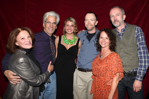 Linda Lavin, Director Steve Bakunas, Anna Stromberg, Mike O'Neil, Michelle Gagliano and Playwright Owen Dunne