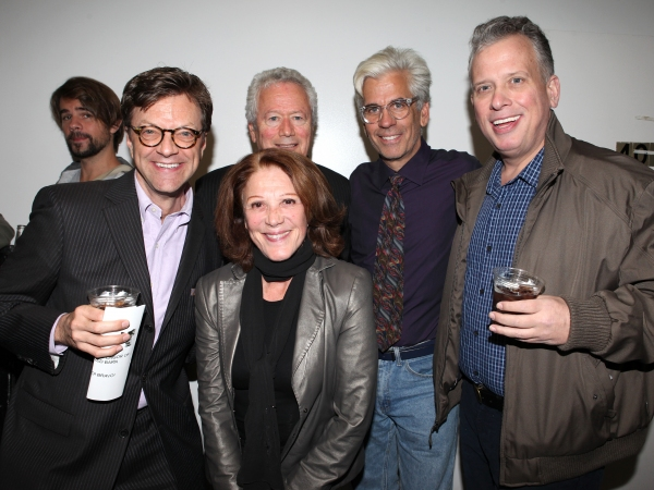 Jim Caruso, Stephen Sorokoff, Linda Lavin, Director Steve Bakunas and Billy Stritch at Inside Opening Night of POSITIONS