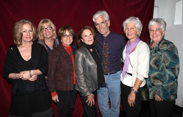 Linda Lavin with Director Steve Bakunas and Family  at Inside Opening Night of POSITIONS