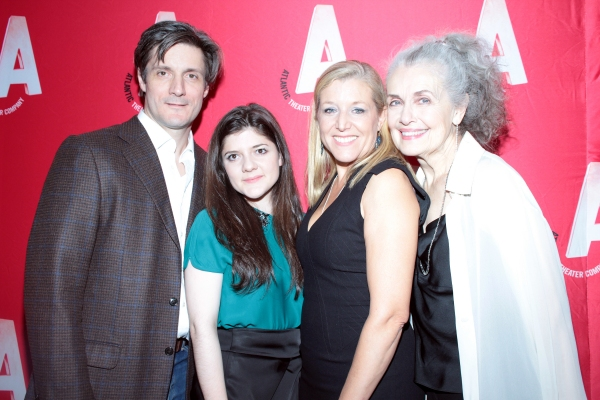 Gareth Saxe, Madeleine Martin, Mary McCann, Mary Beth Peil at Inside Opening Night of Atlantic Theater Company's HARPER REGAN