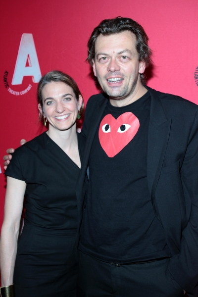 Gaye Taylor Upchurch, Simon Stephens at Inside Opening Night of Atlantic Theater Company's HARPER REGAN