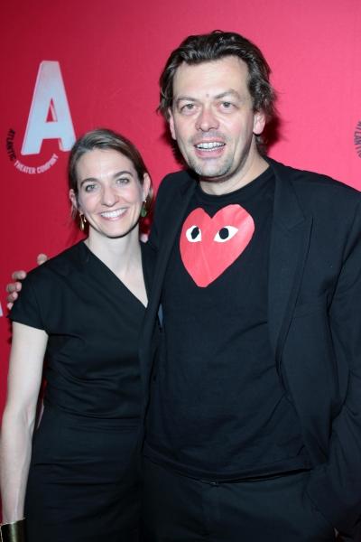 Gaye Taylor Upchurch, Simon Stephens at Inside Opening Night of Atlantic Theater Company's HARPER REGAN