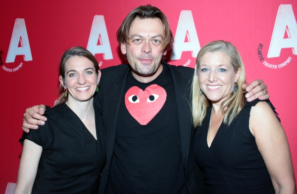 Gaye Taylor Upchurch, Simon Stephens, Mary McCann at Inside Opening Night of Atlantic Theater Company's HARPER REGAN