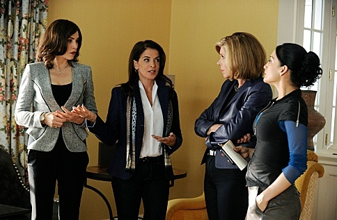 Julianna Margulies,Annabella Sciorra, Christine Baranski,Archie Panjabi at Dennehy, Ricci Among Guest Stars on CBS's THE GOOD WIFE