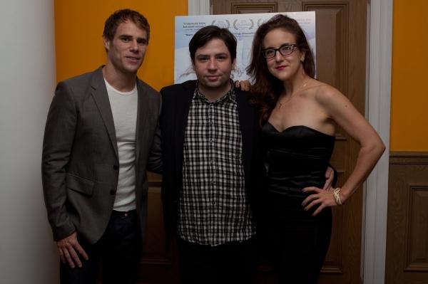 "Matthew Wilkas, ""Gayby"" writer/director Jonathan Lisecki, Jenn Harris"