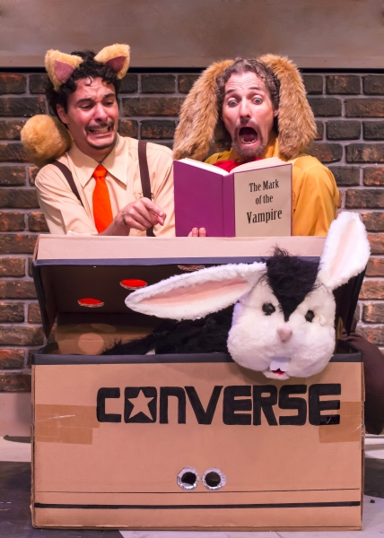 Chester (Braden Hunt) and Harold (Stephen Hurst) read about the new rabbit Bunnicula