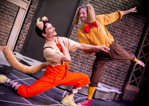 Chester (Braden Hunt) and Harold (Stephen Hurst) sing and dance about the joys of bei Photo