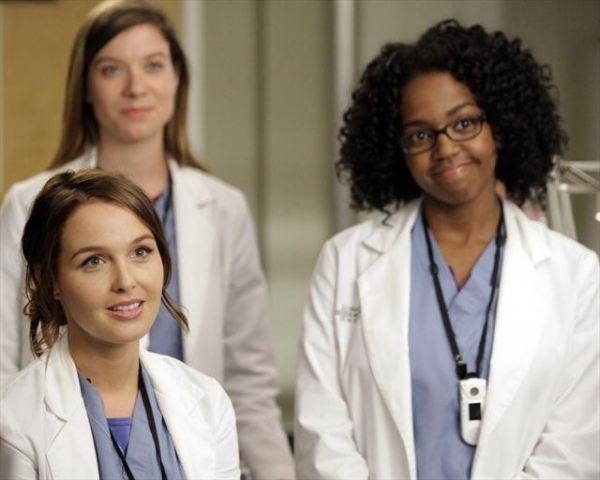 CAMILLA LUDDINGTON, TESSA FERRER, JERRIKA HINTON    at First Look at GREY'S ANATOMY Episode 'I Saw Her Standing There,' Airs 10/25