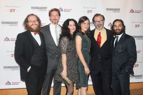 Andy Grotelueschen, Samuel Roukin, Geraldine Hughes, Mikaela Feely- Lehmann, Drew McVety and Ben Steinfeld  at CYRANO DE BERGERAC Opening Night Cast Party!