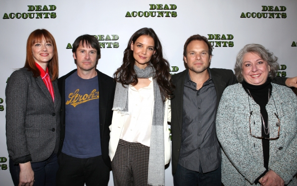 FREEZE FRAME: Norbert Leo Butz, Katie Holmes and DEAD ACCOUNTS Cast Meet the Press!