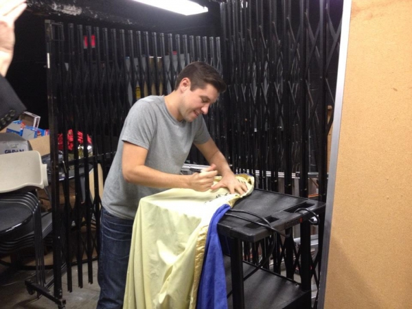 Justin Boccitto autographs The First Night Robe
