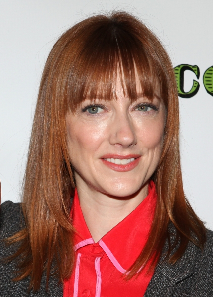 Judy Greer  at Norbert Leo Butz, Katie Holmes and DEAD ACCOUNTS Cast Meet the Press!