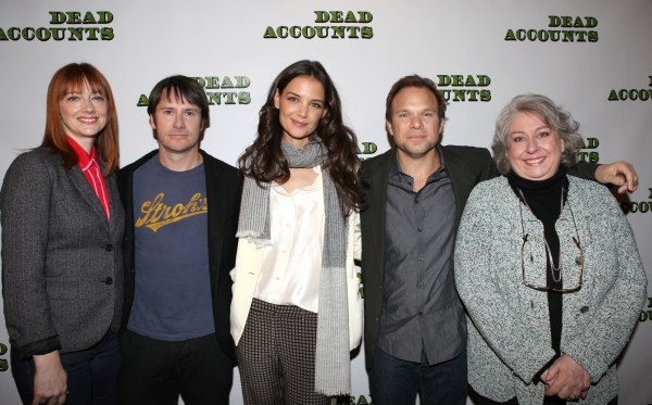Judy Greer, Josh Hamilton, Katie Holmes, Jayne Houdyshell and Norbert Leo Butz  at Norbert Leo Butz, Katie Holmes and DEAD ACCOUNTS Cast Meet the Press!