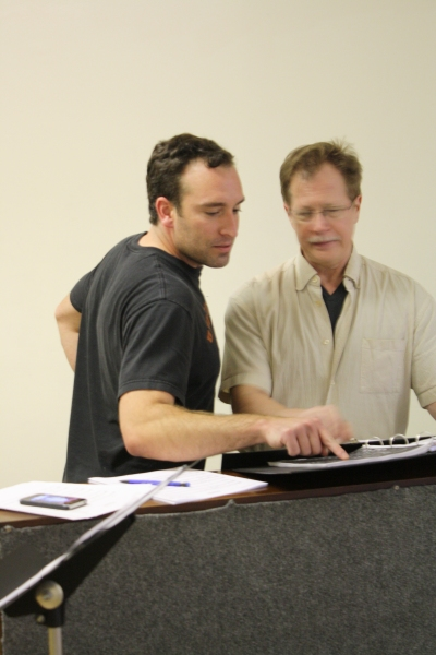 "Chris Hoch rehearses ""You May Be Far Away From me"" with Musical Director Fran Minarik"