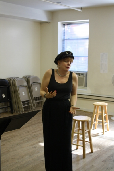KT Sullivan rehearses  at Liz Larsen, KT Sullivan, Chris Hoch & More in Rehearsal for UnsungMusicalsCo.'s AT HOME ABROAD