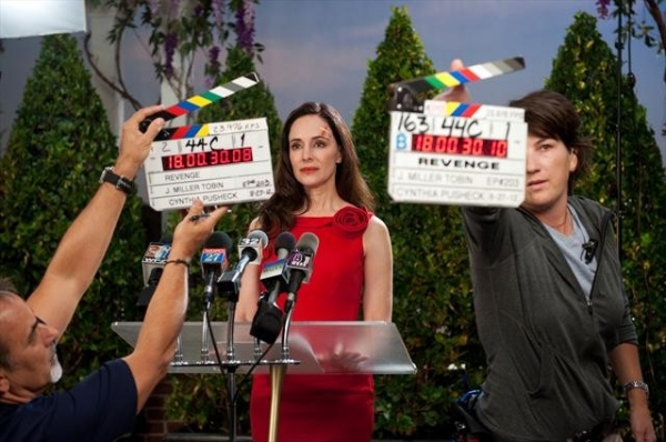 MADELEINE STOWE    at Behind-the-Scenes Look at REVENGE's 10/14 Episode,