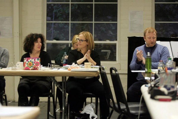 Marcy Heisler, Zina Goldrich and Hunter Bell at In Rehearsal with Emily Skinner & Cast of GREAT AMERICAN MOUSICAL