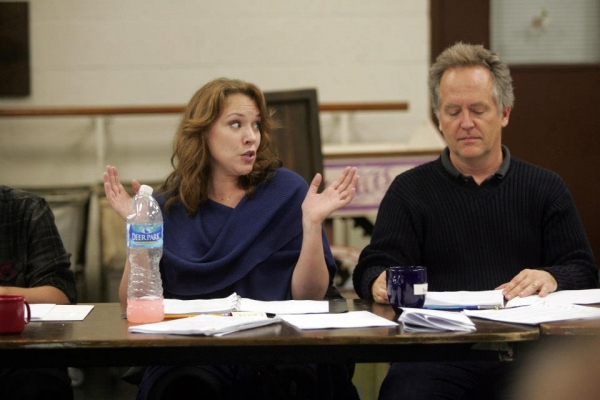 Emily Skinner, David Beach at In Rehearsal with Emily Skinner & Cast of GREAT AMERICAN MOUSICAL