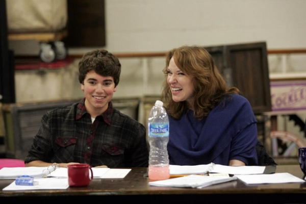 Noah E. Galvin, Emily Skinner at In Rehearsal with Emily Skinner & Cast of GREAT AMERICAN MOUSICAL