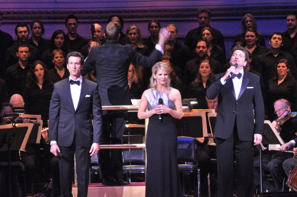 Aaron Lazar, Kelli O'Hara and Paulo Szot at Kelli O'Hara, Aaron Lazar, and More in New York Pops' SOME ENCHANTED EVENING