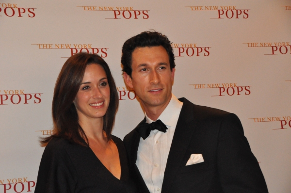 Aaron Lazar and his wife Leann at Kelli O'Hara, Aaron Lazar, and More in New York Pops' SOME ENCHANTED EVENING