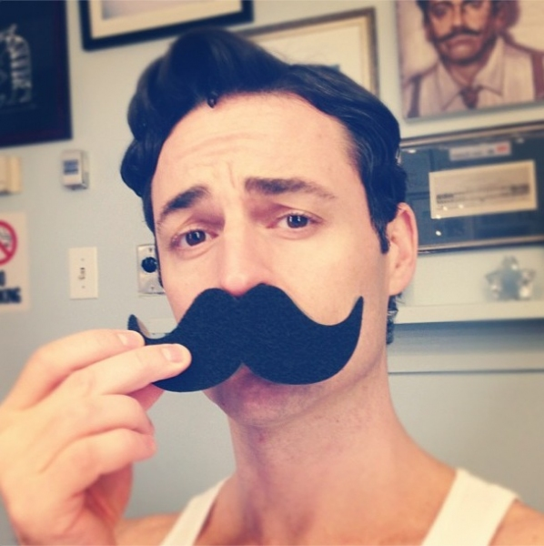 Photo Flash: Saturday Intermission Pics, Oct 13 - EVITA Mustaches, ONCE Pumpkins and More!