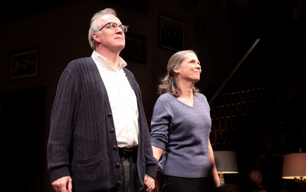 Tracy Letts, Amy Morton at WHO'S AFRAID OF VIRGINIA WOOLF? Opening Night Curtain Call with Edward Albee!
