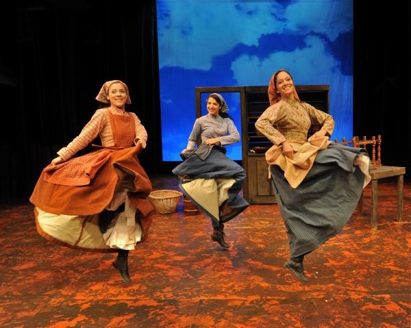 "Dana Glaus (Chava), Sarah Rolleston (Hodel) and Rachel Prather (Tzeitel) Perform ""Mat Photo"