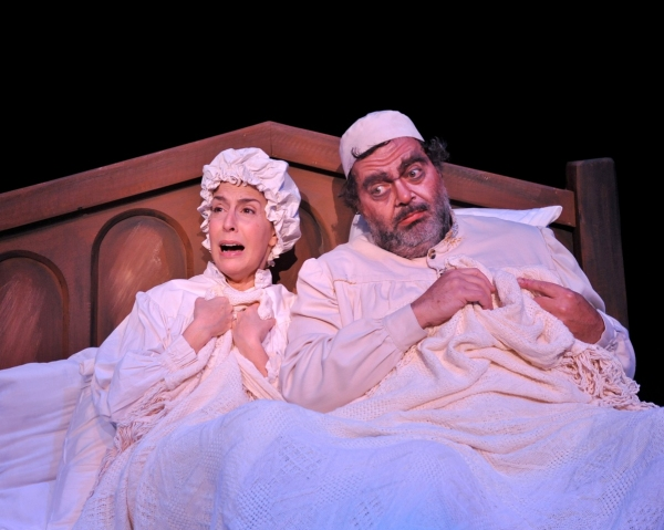 "Emily Zacharias (Golde) and Bill Nolte as Tevye perform ""The Dream"""