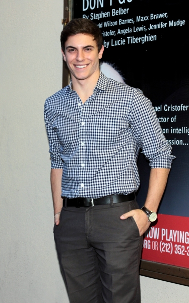 Derek Klena at Inside Opening Night of  MCC's DON'T GO GENTLE