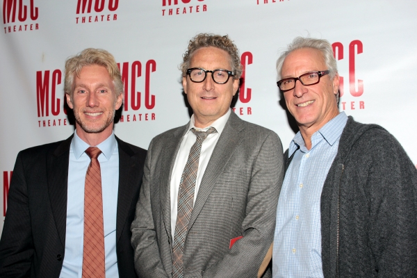 Blake West, Bernard Telsey, Robert LuPone at Inside Opening Night of  MCC's DON'T GO GENTLE