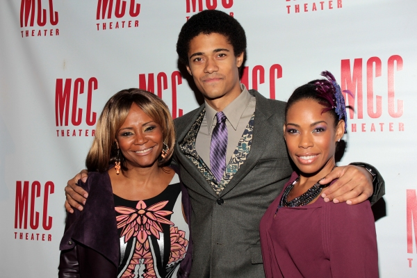 Tonya Pinkins, Maxx Brewer, Angela Lewis at Inside Opening Night of  MCC's DON'T GO GENTLE