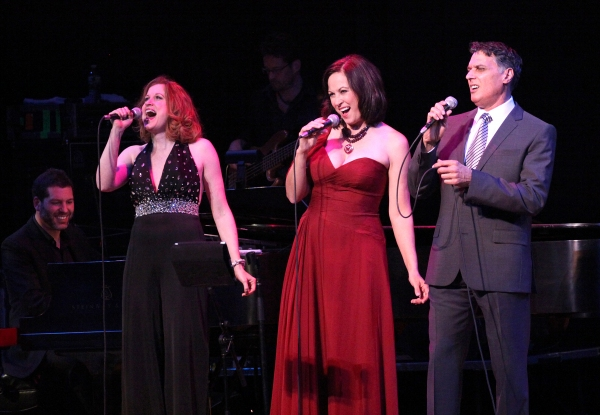 Christiane Noll, Linda Eder and Robert Cuccioli with Billy Jay Stein (at piano)  Photo