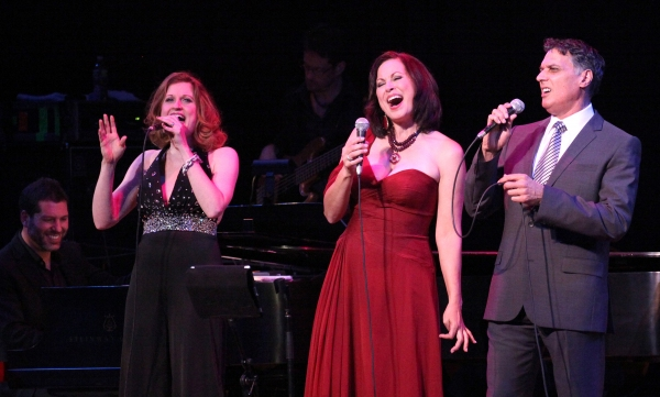 Christiane Noll, Robert Cuccioli and Linda Eder with Billy Jay Stein (at Piano)  Photo