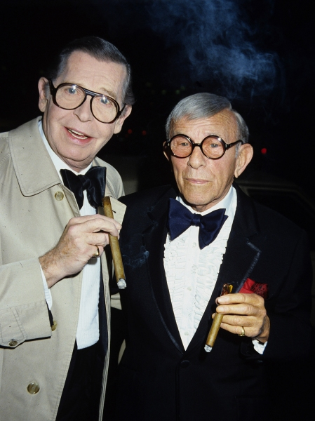 Milton Berle and George Burns in 1982.  Photo