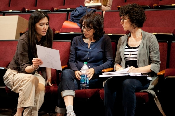 Diane Paulus, Andrea Martin, and Dominique Lemieux