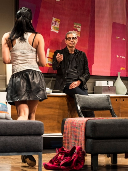 Jennifer Ikeda and Jeff Goldblum