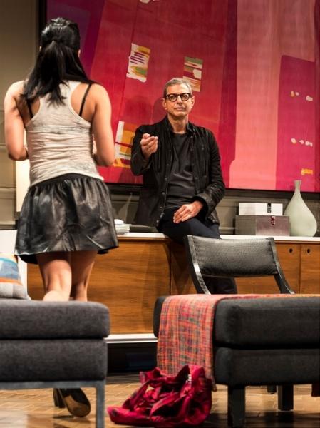 Jennifer Ikeda and Jeff Goldblum