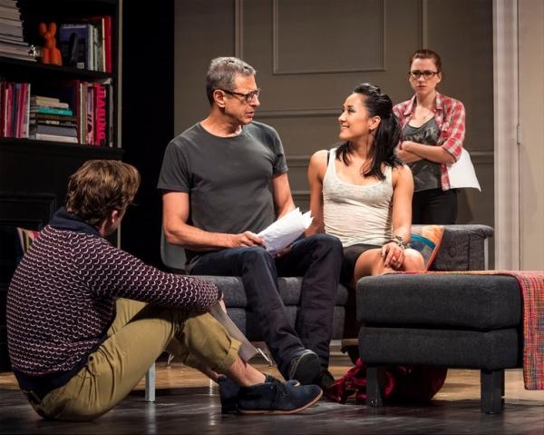 Lucas Near-Verbrugghe, Jeff Goldblum, Jennifer Ikeda and Aya Cash