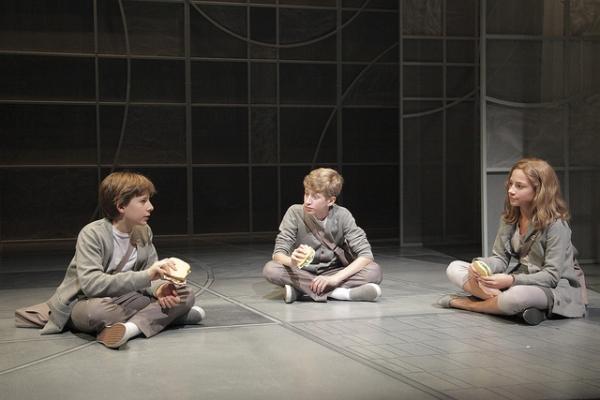Gabe Koskinen-Sansone (Asher), Jackson Garske (Jonas) and Isabel Sabbah (Fiona)