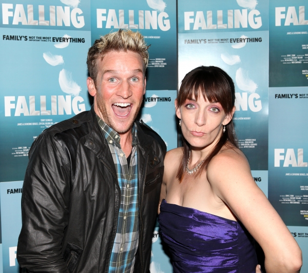 Julia Murney and Claybourne Elder  at FALLING's Opening Night After Party
