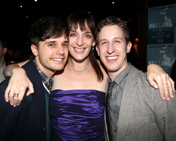 Andy Mientus, Julia Murney and Alex Wyse at FALLING's Opening Night After Party