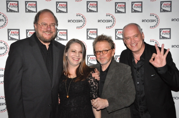 Rupert Holmes, Cori Gardner, Paul Williams and Donnie Kehr at John Tartaglia, Ryann Redmond, and More at ROCKERS ON BROADWAY- Arrivals!