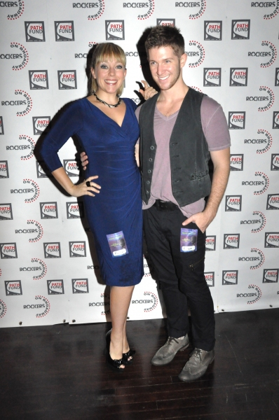 Michelle Kinney and Eric Michael Krop at John Tartaglia, Ryann Redmond, and More at ROCKERS ON BROADWAY- Arrivals!