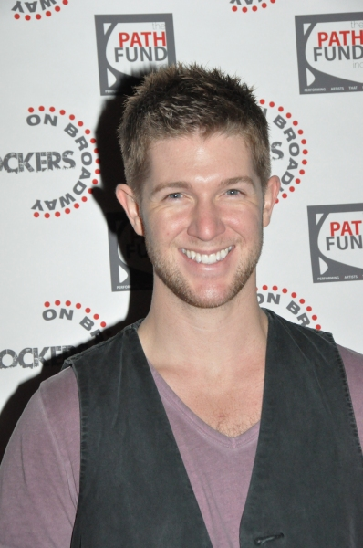 Eric Michael Krop at John Tartaglia, Ryann Redmond, and More at ROCKERS ON BROADWAY- Arrivals!