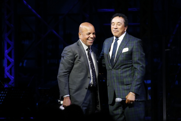 Berry Gordy and Smokey Robinson at Inside MOTOWN's Launch Event with Berry Gordy, Smokey Robinson, and More!