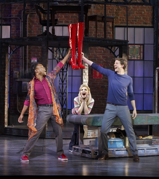 Billy Porter, Annaleigh Ashford and Stark Sands at First Look at Annaleigh Ashford, Billy Porter and Stark Sands in KINKY BOOTS